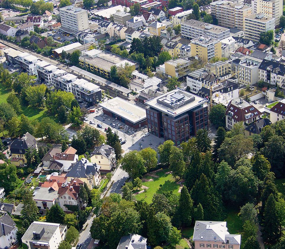Aufsicht auf Messergroup und 20Townhouses - entwickelt von der Eberhard Horn Designgruppe