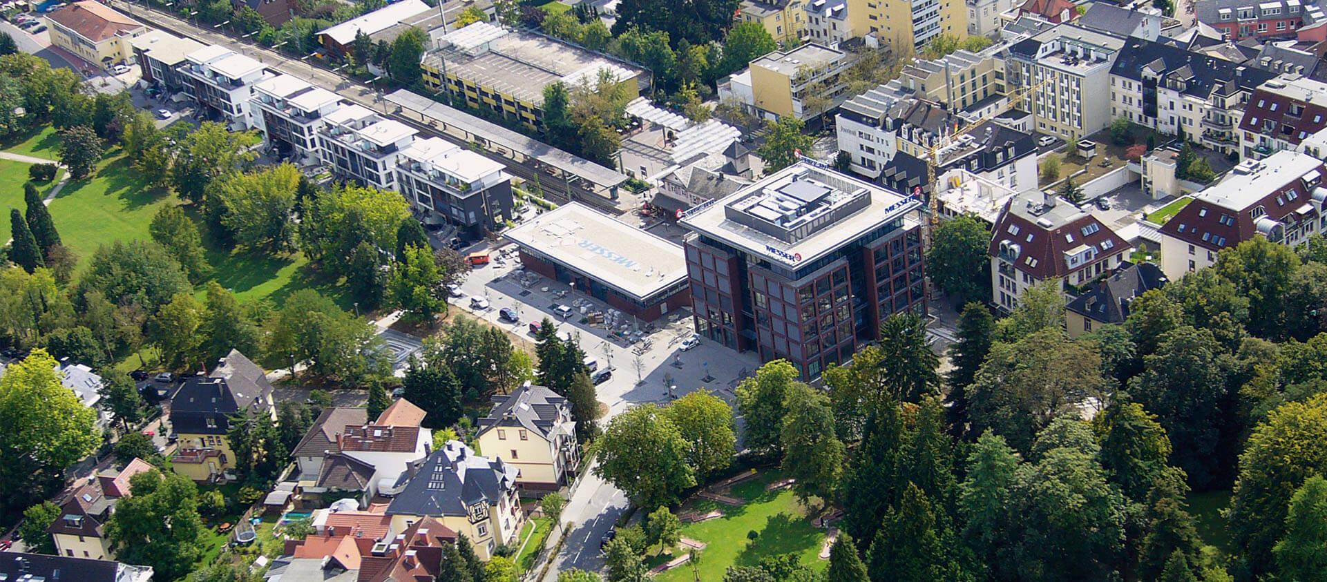 Aufsicht Messer Group Bad Soden a. Ts. - Architektur Eberhard Horn Designgruppe