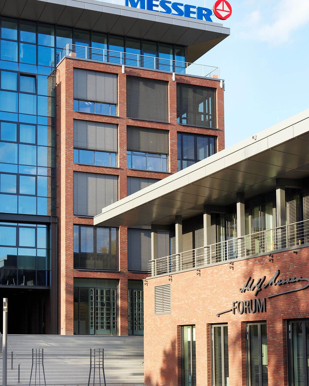 Ansicht Hauptverwaltung Messergroup und Eventcenter - Architektur Eberhard Horn Designgruppe