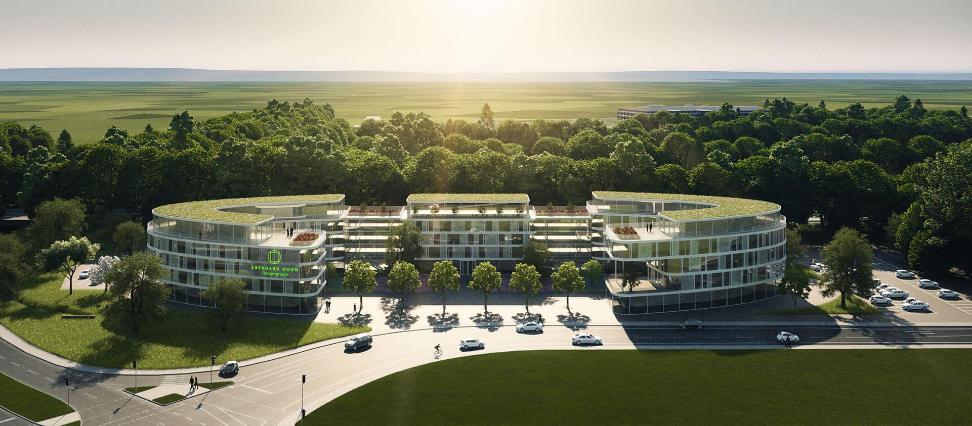 Projektentwicklung Bad Homburg Eberhard Horn Designgruppe, Gebäudekomplex Natural Balance Campus
