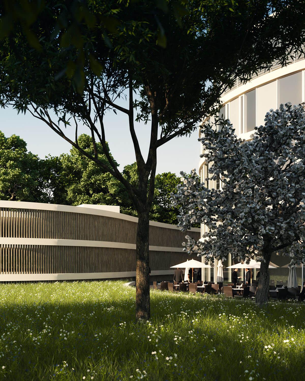 Projektentwicklung Bad Homburg Eberhard Horn Designgruppe, Parkdeck Natural Balance Campus