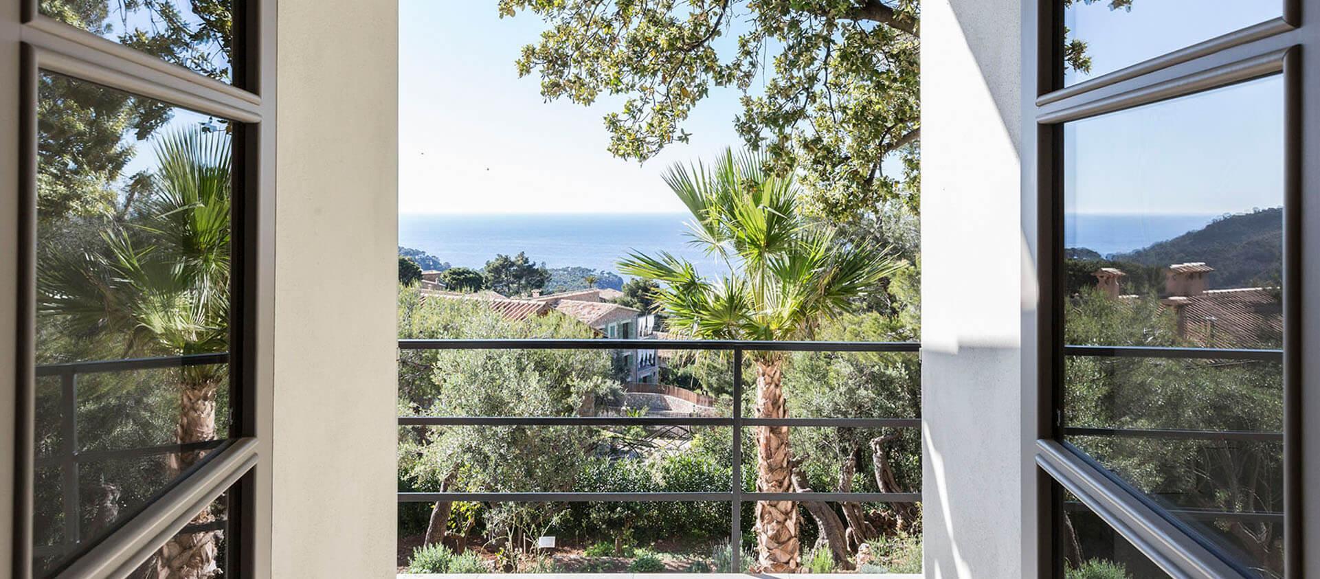 Blick aus Finca Mallorca Richtung Meer