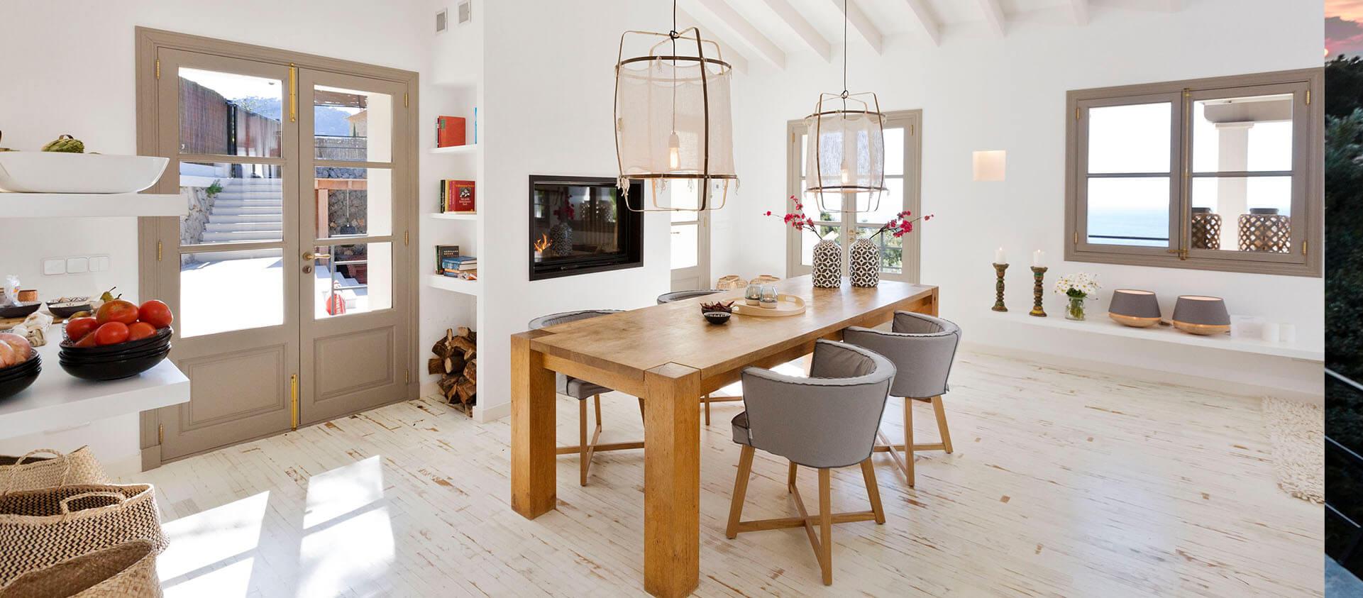 Essbereich Finca Mallorca, Interieur Design Eberhard Horn Designgruppe