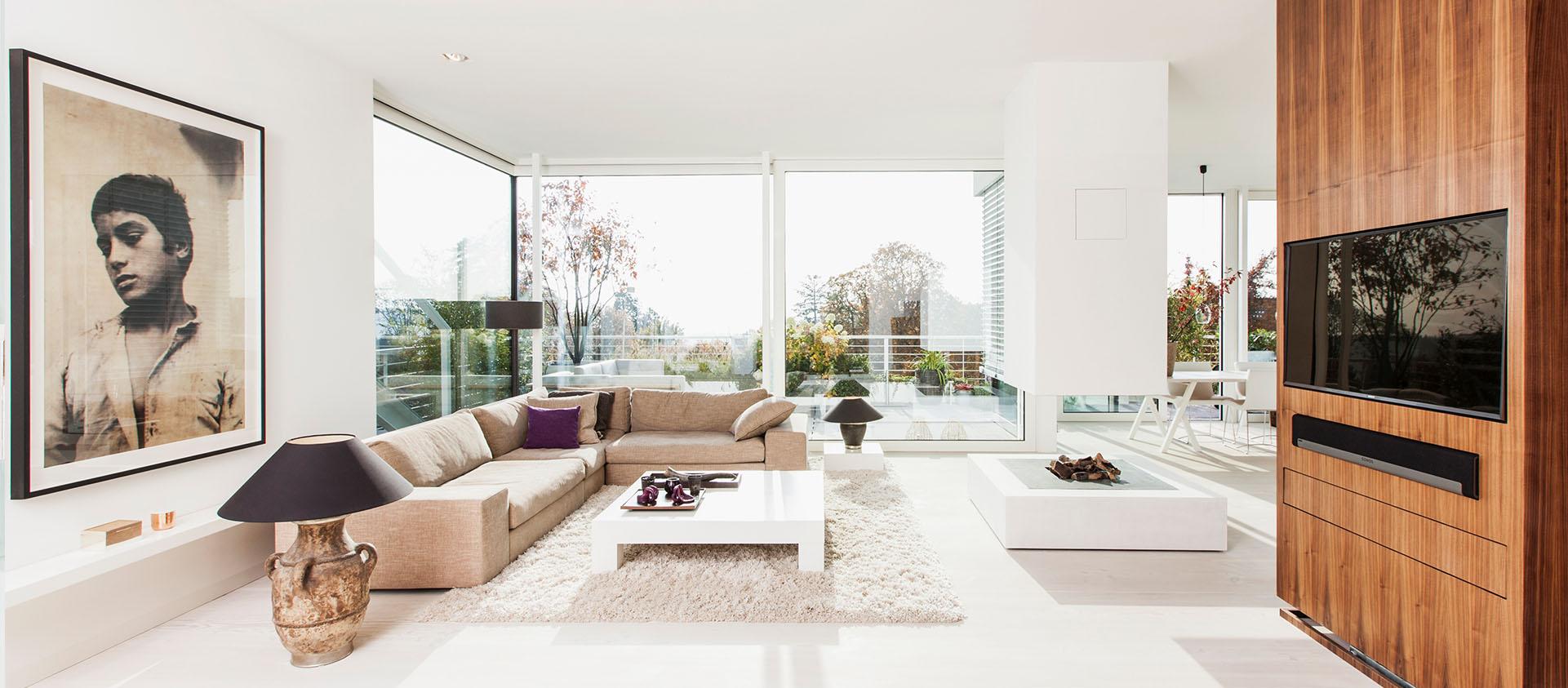 Penthouse Wohnbereich Interieur Design Eberhard Horn Designgruppe Königstein