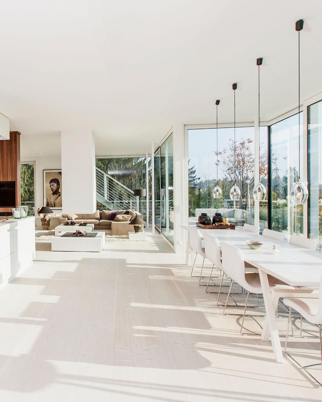 Penthouse offener Wohn-Essbereich, Interieur Design Eberhard Horn Designgruppe Königstein