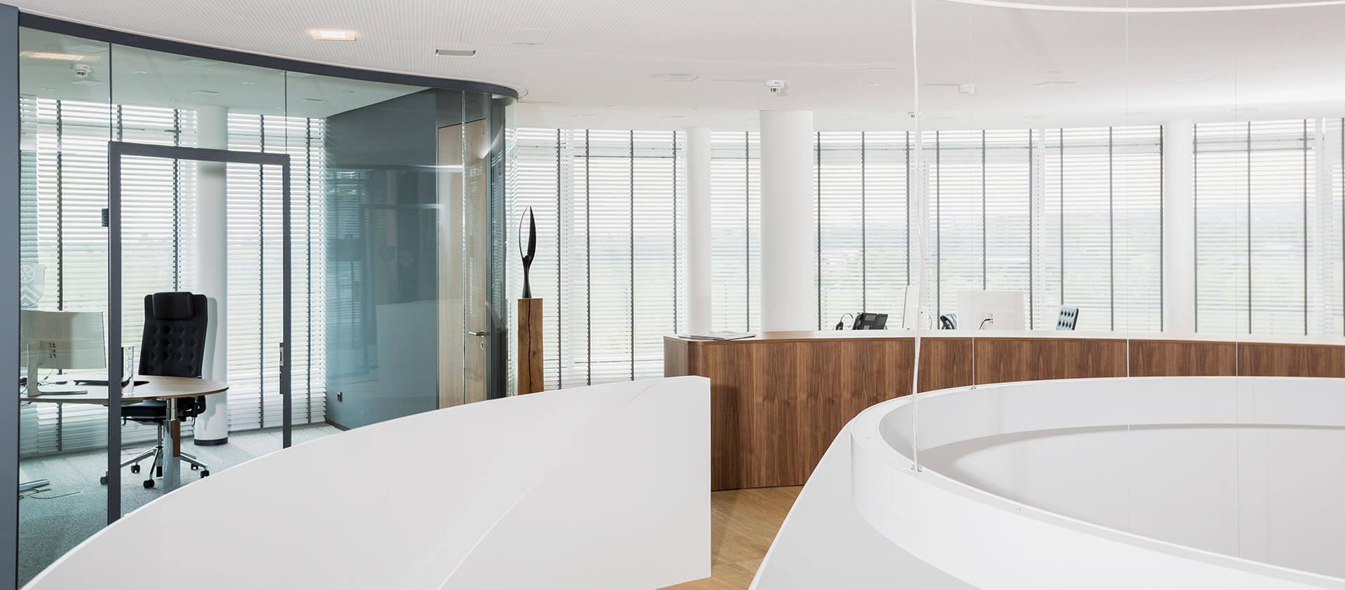 Bürogebäude geplant von Florian + Eberhard Horn, Empfang
