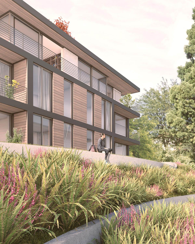 Wohngebäude Holzbauweise geplant von der Eberhard + Florian Horn GmbH