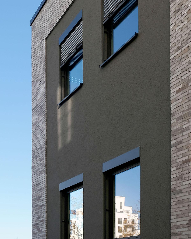 Fassadendetail internationale KiTa als Brückenbauwerk Architektur Eberhard + Florian Horn GmbH - hochkant