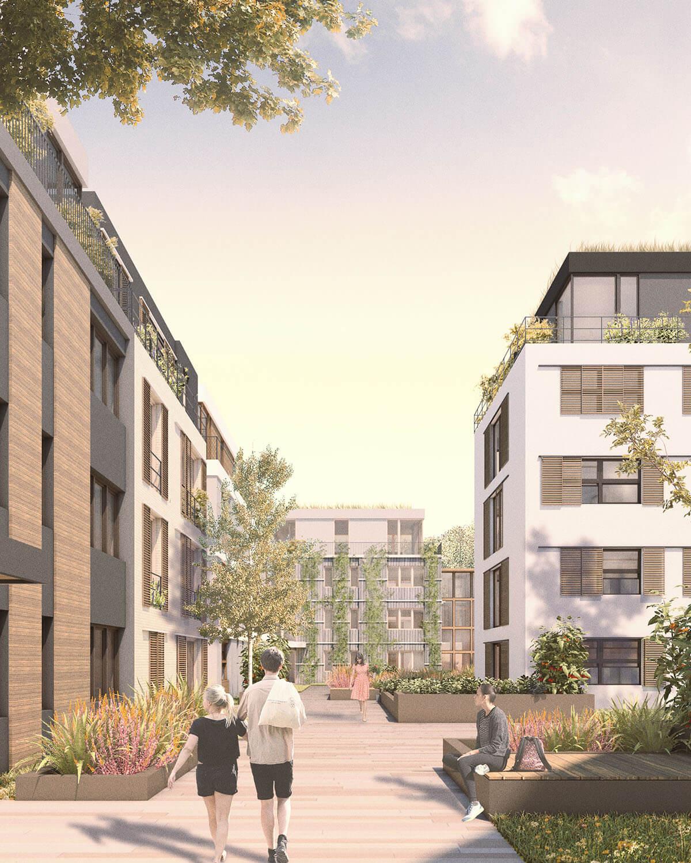 Königsteiner Höfe Rendering Wohnkomplex Planung und Architektu by Eberhard + Florian Horn GmbH