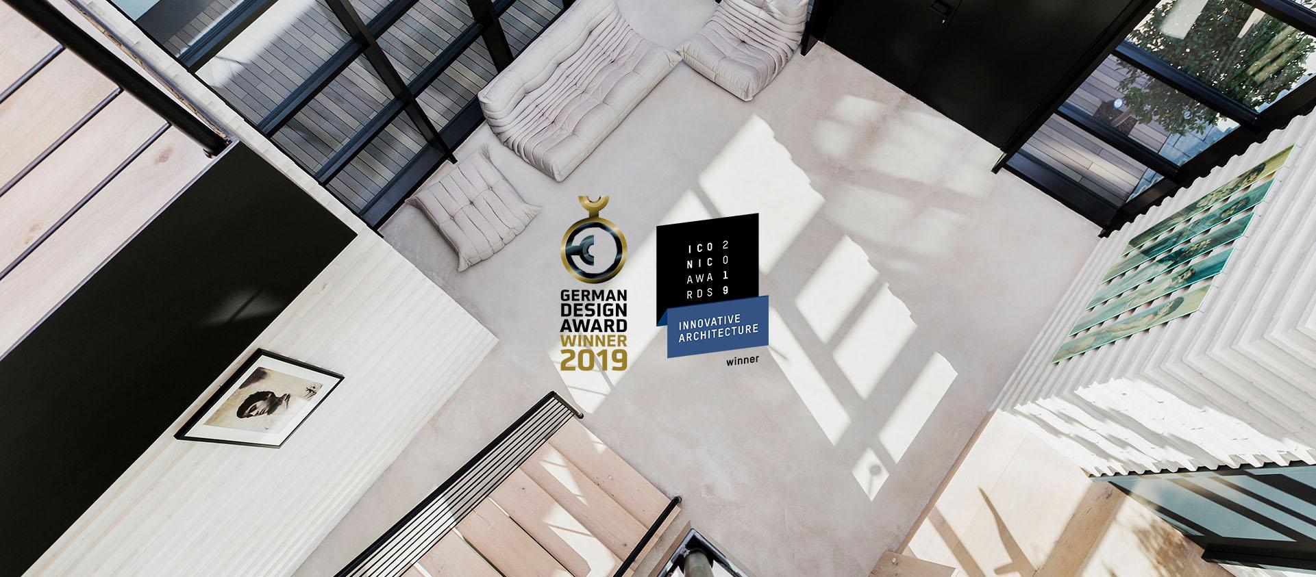Office Eberhard + Florian Horn von oben mit gewonnen Awards