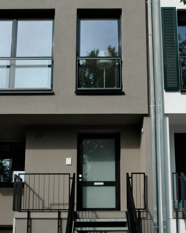 Eingang Townhouse Bad Soden a. Ts.. Architektur Eberhard Horn Designgruppe