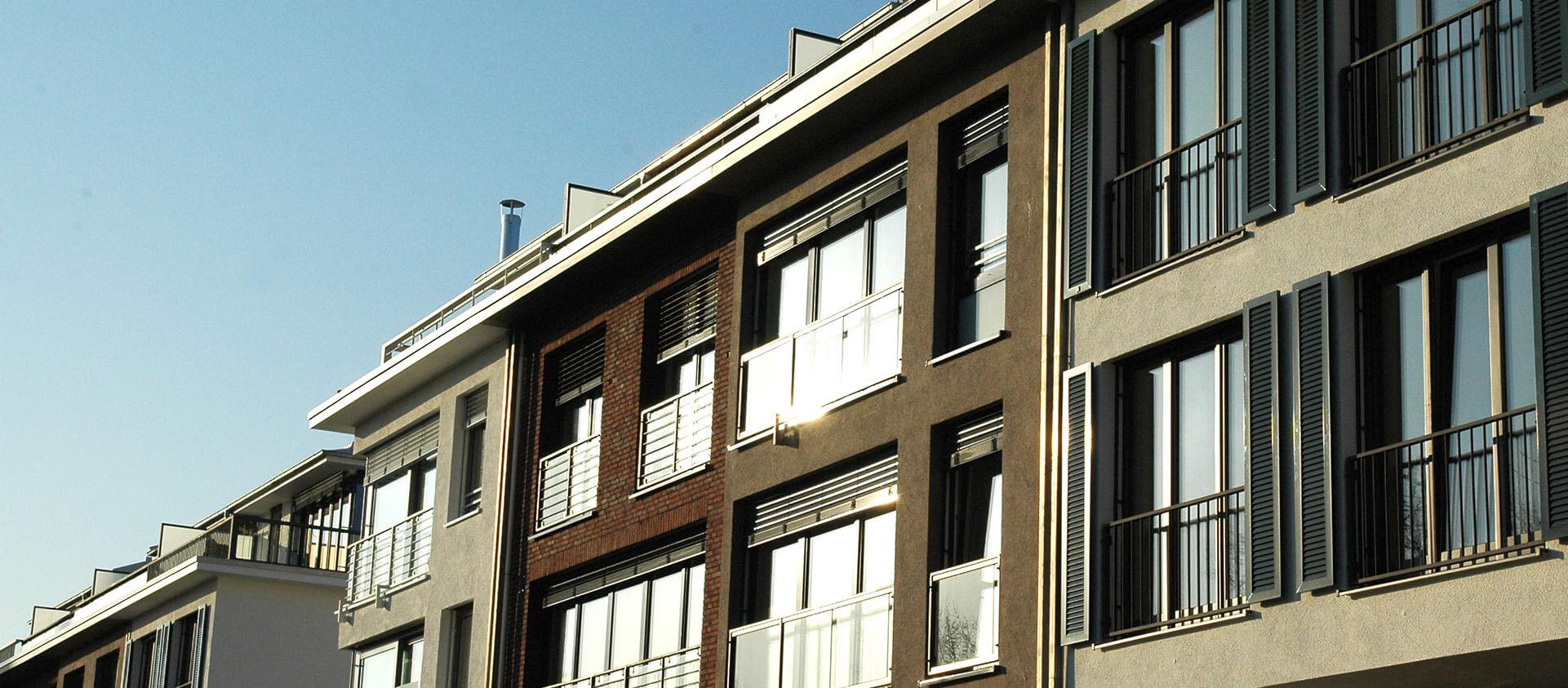 Einige der 20 Townhäuser in Bad Soden a. Ts.. Architektur Eberhard Horn Designgruppe
