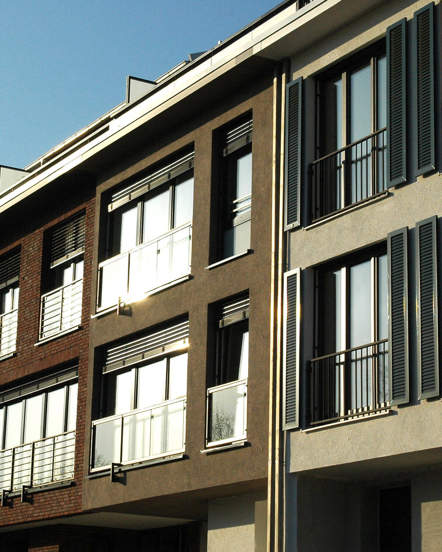 4 der 20 Townhäuser in Bad Soden a. Ts.. Architektur Eberhard Horn Designgruppe